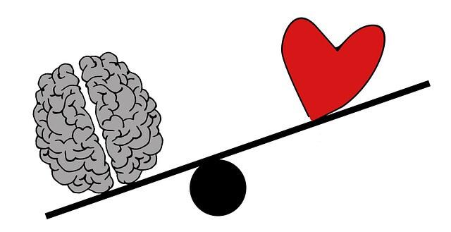 Balance Gehirn zu Herz
