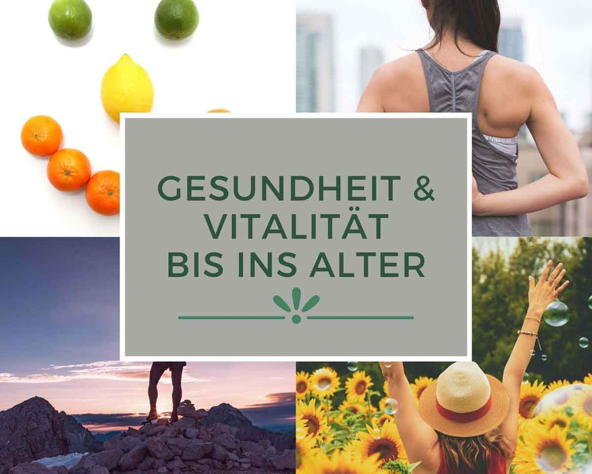 Collage zu vitalität, gesundheit, gesunder rücken